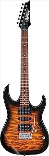 Ibanez GRX 6 String Solid-Body Electric Guitar, Right, Sunburst, Full (GRX70QASB)