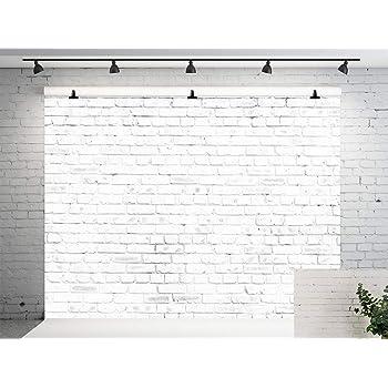Kate 2.2X1.5M 白いレンガの壁の背景の写真フォトスタジオの白い壁のビンテージの壁のためのシームレスな背景の背景ヴィンテージの 背景