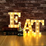 GUOCHENG 1 Pack 3pcs EAT Set LED Marquee Light Sign Restaurant Dining Room Canteen Window Display Led Light Sign Lamp for Home Restaurant Shop