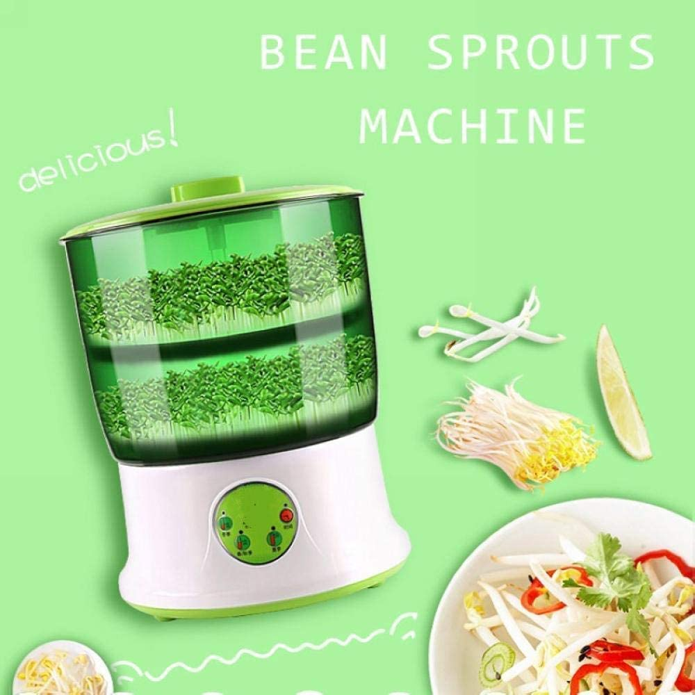 HYISHION 110V / 220V Bean Sprout Machine Intelligence Accueil Utilisation Grande capacité Automatique Bean Choux Machine 220 V (Couleur: 220 V) SKYJIE (Color : 110v) 110v