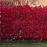AOFOTO 10x10ft Romantic Roses Backdrop Wedding Photography Background Garden Flowers Lovers Couple Girlfriend Bride Portrait Valentine's Day Photo Shoot Studio Props Seamless Wallpaper