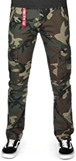 ALPHA INDUSTRIES Men Cargos Agent C Camouflage W 32