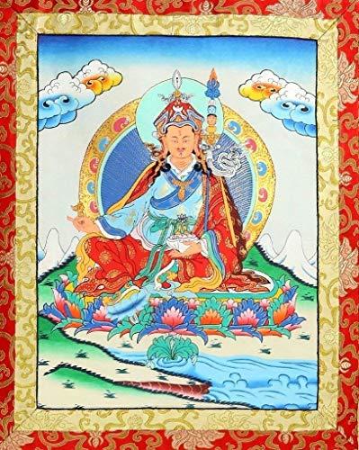 BARREL CRAFTS GALAXY Handgefertigte indische Orientalische Dekoration, zum Aufhängen, Seidenleinwand, Schriftrolle, inspiriert von antiken tibetischen Mandalas, 104 x 74 cm