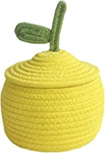 SWZJJ 1pc Gourd Basket Table Bed Storage Box Yellow Cotton Knitting Thread Woven Storage Basket for Sundries Key Snacks