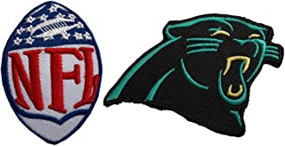 Hipatch Carolina Panthers Embroidered Patch Iron on Logo Vest Jacket Cap Hoodie Backpack Patch Iron On/sew on Patch Set of 2Pcs