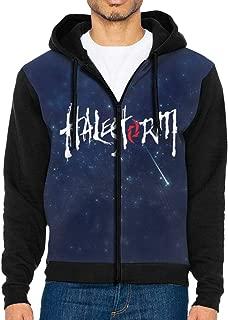 YNUFEng Hoodies Halestorm Logo Lightweight Digital Print Full Zip Hoodie Sweatshirt for Men