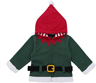 02341ed338a7e TiaoBug Bébé Enfant Fille Garçon Noël Manteau à Capuche Veste à Manche  Longue Cardigan Chaud Haut