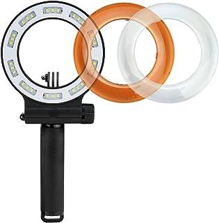 MEIKON LED Unterwasserlicht, wasserdicht bis 40 m, Tauchfülllicht, IPX8, wasserdicht, Blitzringlicht, 3 Modi mit 30 LEDs für GoPro Hero 6/5/4/3/2/1 SJCAM und andere Action Kameras (wiederaufladbar)