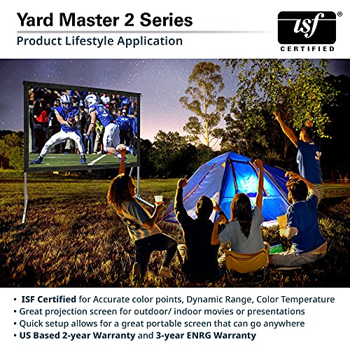 Elite Screens Yard Master 2, 120-inch Outdoor Indoor Projector Screen 16:9, Fast Easy Snap On Set-up Freestanding Portable Movie Foldable Front Projection   US Based Company 2-YEAR WARRANTY, OMS120H2