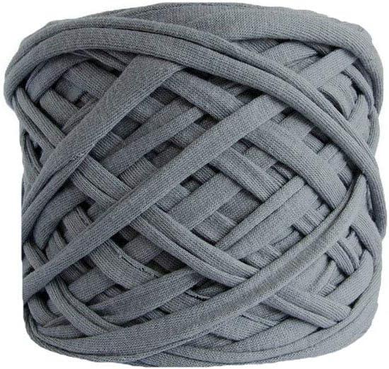 Fio de Malha 100 /% Cott Jersey Yarn Trapillo T-Shirt Yarn 66 Yards60 Meters TShirt Yarn Grey Melange T-Shirt Yarn Fabric Yarn