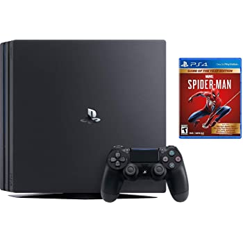 Sony PlayStation 4 Pro 1TB Console Bundle W / Marvel's Spider-Man: Game of The Year Edition | Blu-ray Disc Player | Wi-Fi | AMD Processor | HDMI Cable