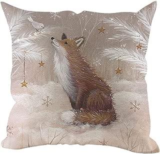 Snowlike Christmas Decoration,Christmas Theme Pillow Cover Pillowcases Decorative Sofa Cushion Cover Home Decoration
