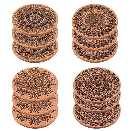 AIEX Set Posavasos de Cerveza Drinks Coasters Copa Bebidas Holder Mat para Decoración