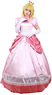Women's Princess Peach Cosplay Costume
