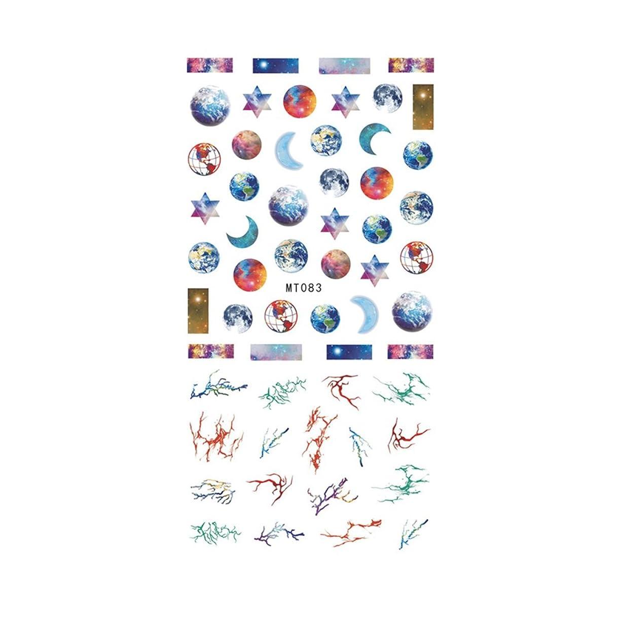 隔離する有彩色の円周【MT083】ギャラクシーネイルシール ネイルアート 地球 宇宙 コズミック アース 大理石