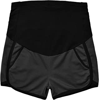 GINKANA Maternity Shorts Summer Pregnancy Casual Short Pants Relaxed Fit Stretchy Full Panel Short