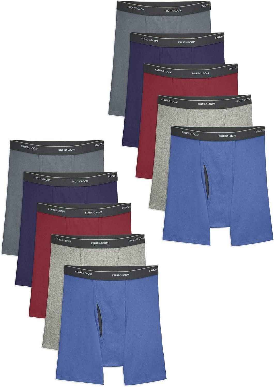 Fruit of the Loom Men's Super Value Boxer Briefs 5+5pk - XL, Men's, Multicolored