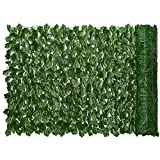 """Lvydec Artificial Ivy Privacy Fence Screen, 118"""" x 39"""" Artificial Hedges Fence and Faux Ivy Vine Leaf Decoration for Outdoor Garden Porch Patio"""