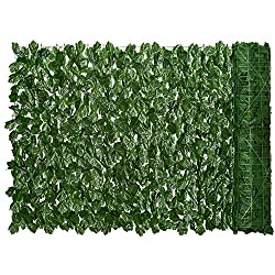"powerful Lvydec Artificial Ivy Screen, 118 ""x 39″ Artificial Hedge Fence, Artificial Ivy tendril …"