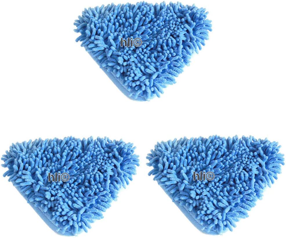 3 x Korallenbez/üge f/ür Dampfreiniger Aqua Laser Dampfreinigungsbesen Premium 3 Microfaser-Bodent/ücher