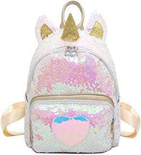 COODIO Girls Fashion Sequin Cute Backpack Travel Bag for Fashion Jewelry