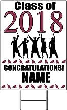 2018 GRADUATION BURGUNDY YARD SIGN (1 EACH) by Partypro