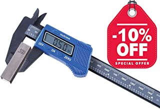 Digital Vernier Caliper, Electronic Digital Caliper 6 Inches with Large LCD Screen, Inch/Millimeter Conversion, Blue, by FstDgte