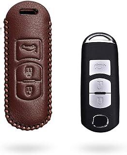 جراب جلدي لمفتاح السيارة، لهاتف مازدا 2020 2019 CX5 2 3 5 6 CX9 CX7 GJ Axela Demio CX-5