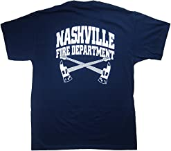 RescueTees Nashville Fire Department T-Shirt - X-Large Navy Blue