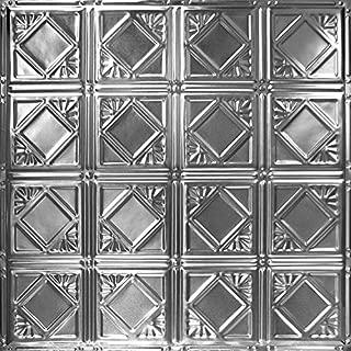 American Tin Ceilings Pattern #19 Tin Tile Backsplash Kit (Brushed Satin Nickel)