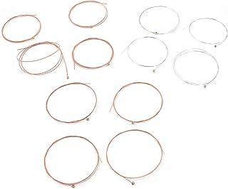 Geesatis 2 Set of 6 Acoustic Guitar Strings Replacement Steel String, E-1st, B-2nd, G-3rd, D-4th, A-5th, E-6th, Rose Red a...