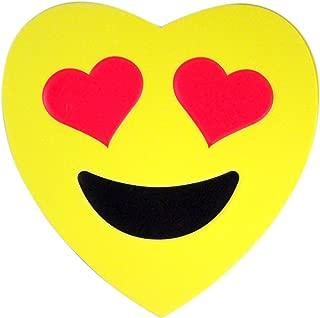 Emoji Emojicon Foam Heart Valentines Day Box with Gummy Candy, 3.17 oz (Smiling Face Heart Eye Emoji Face)