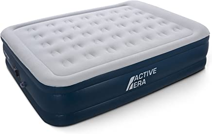 Active Era Premium King Size Double Queen Air Bed with a Built-in Electric Pump and Pillow