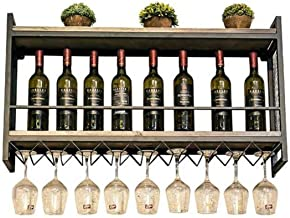 Yxsd Kitchen Storage Organisation Industrial Wall Mounted Loft Retro Iron Metal Wine Rack Shelf, Wine Bottle | Glass Rack ...