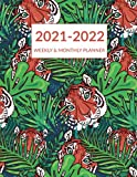 2021 2022 Weekly & Monthly Planner: Wildlife Tiger Cover, Academic Planner Mid-Year July 2021 to June 2022 , Agenda Organizer Calendar