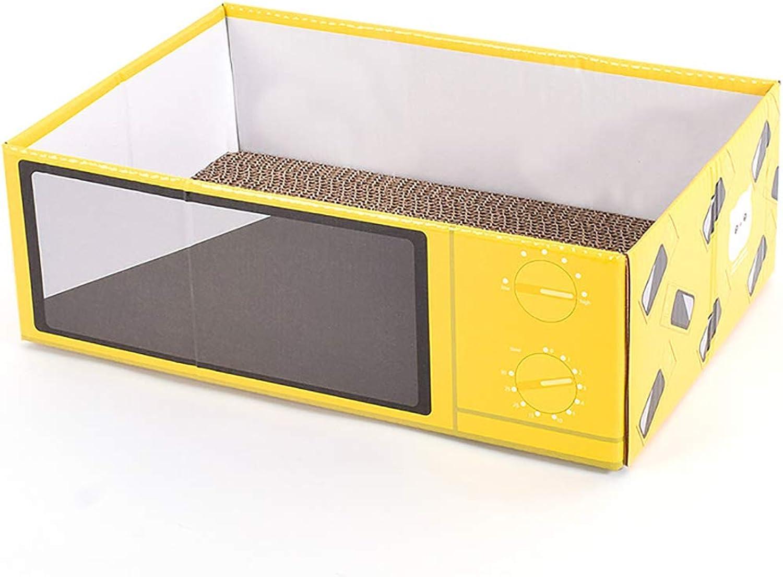 Pet Toy Cat Box Cat Scratch Board Grinding Claw Toy Cat nest Corrugated Paper Carton cat Scratch Board 37.5  24.5  12 cm