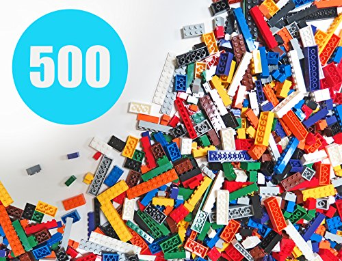 Play Platoon Building Bricks - Regular Colors - 500 Pieces Classic Bricks - Compatible with All Major Brands