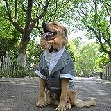 lovelonglong Hunde Schwarzer Smoking-Anzug Kostüme Party Formellen Anzug mit Schwarzer Fliege für Kleine, Mittelgroße, Großer Hunde, Bulldogge Kostüme Gray L-L