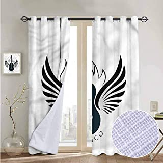 NUOMANAN Blackout Curtain Panels Window Draperies Flamenco,Classic Guitar with Wings,for Bedroom, Kitchen, Living Room 52