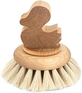 Iris Hantverk Birch and Horse Hair Bath Brush Duck