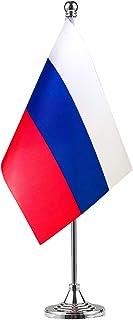 GentleGirl Russia Flag Russian Flag Table Flag,Desk Flag,Office Flag,International World Country Flags Banners,Festival Ev...