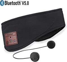 Bluetooth Headband,Azzker Bluetooth V5.0 Wireless Hands-Free Sleep Headphones Sports Headband with Detachable Ultra-Thin HD Stereo Speakers and Mic for Sleeping Yoga Call Travel & Hiking