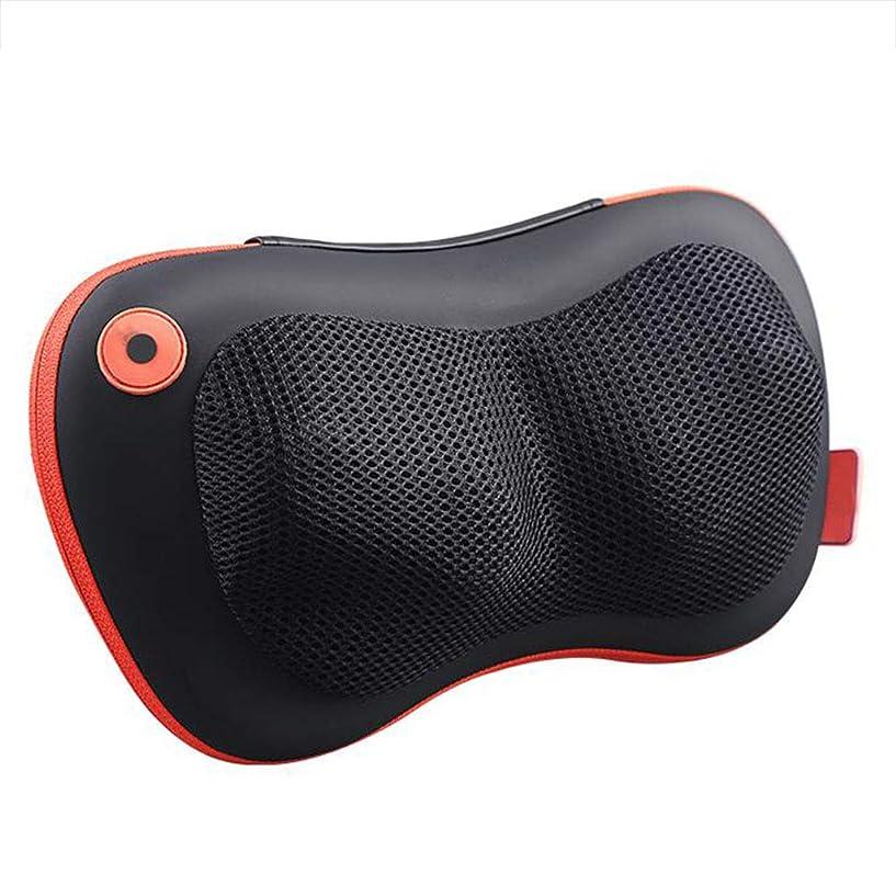 習字腹に話すマッサージャー マッサージャー首背部マッサージ枕振動マッサージマッサージパッド加熱多機能ホームオフィス車黒い贈り物 (Color : Black, Size : 33*19*10cm)