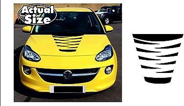   Front Oracal 751C//3M 1080//Oracal 7510 Fluorescent Premium Decor Rallye 3M M12 Schwarz Matt, Variante 3 Sto/ßstange Motorhaube Dekor 2er Set Folien-Set Racing Styling Car Styling