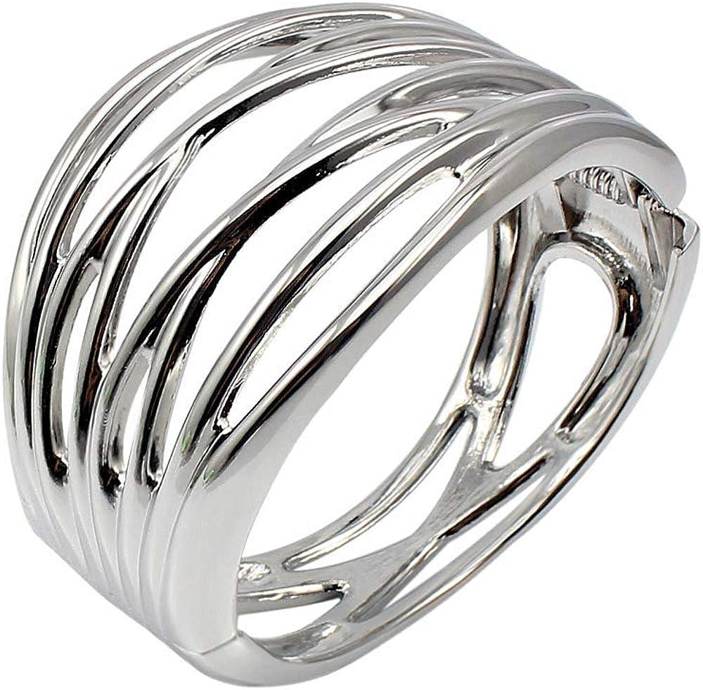 COOLYA HUA Hollow Line Bracelet Bangle Shiny for Women Lady Girls