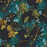 Art Gallery Fabrics - Baumwollstoff Meterware mit Blättern