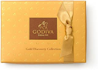 Godiva Chocolatier Gold Discovery Assorted Gourmet Chocolate Gift Box, Great for Gifting, Chocolate Treats, 6 pc