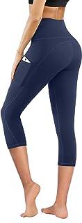 High Waist Yoga Pants with Pockets, Tummy Control...
