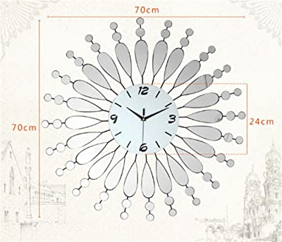ALUS- Modern minimalist living room large creative personality mute quartz wall clock European fashion watches