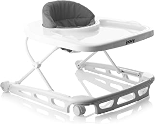 Joovy Spoon Walker, Adjustable Baby Walker, Activity Center, Charcoal